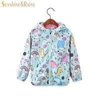 4cffcf317 Sunshine Rainy 2018 Spring Kids Unicorn Jacket For Girls Dinosaur Baby Girl  Jackets Coats Cartoon Hooded