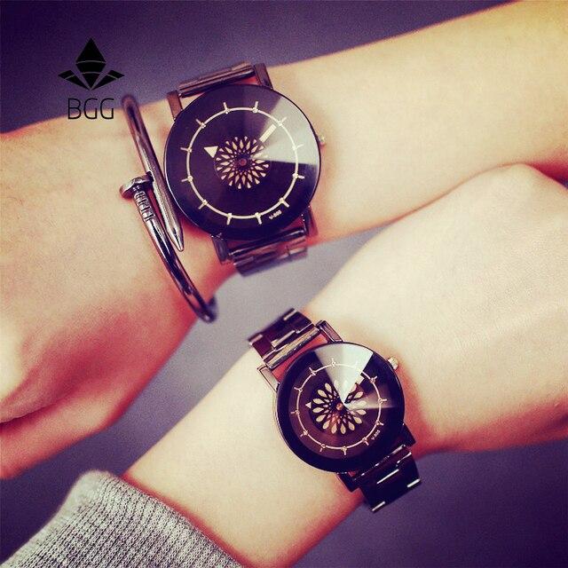 Проигрыватель уникальный Дизайн часы модные роскошные алмаз зеркало Для женщин Часы 2017 BGG Марка нержавеющей стали Кварцевые Lover наручные часы