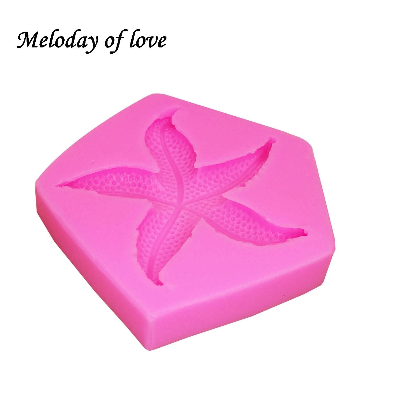 Starfish Soap Making Mould Chocolate Cake DIY Sea Star Fondant Silicone Mold