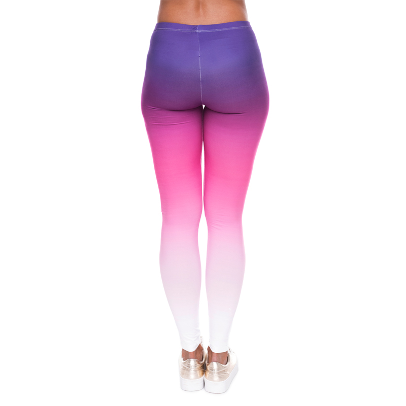 54be72a3702860 Hot Sale Elastic 3D print Women Leggings Knitted Causal Fitness Pants  Gradient Color Purple White Ombre Style Leggings-in Leggings from Women's  Clothing on ...