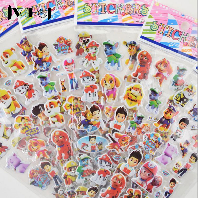 5 pcs/lot Patrol Dog Pattern Bubble stickers DIY album adhesive paper Scrapbook Notebook decoration sticker stationery kids gift 45 pcs box classical chinese style stickers diy album adhesive paper scrapbook notebook decoration sticker stationery kids gifts