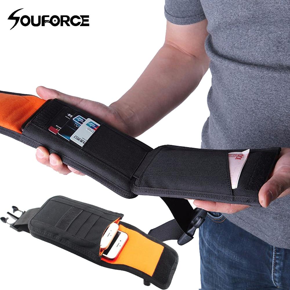 Neue Taktische Taille Pack Stoßfest Doppel Telefon Beutel Brieftasche Karte Hand Tasche Molle System Gun Zubehör für Camping Jagd