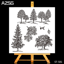 AZSG Forest Trees Transparent Clear Silicone Stamp/Seal for DIY Scrapbooking/photo album Decorative Clear Stamp sheets