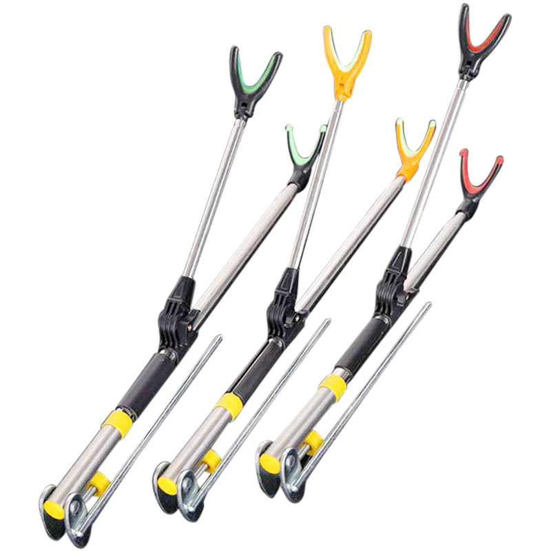 NEW Fishing Rod Bracket Rack Pole Stand Holder Adjustable Flexible Anti-slip Stainless Steel