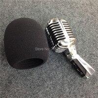 Высококачественный чехол из пены в форме шара для винтажного микрофона  Классический микрофон для ветрового стекла  внутренний размер 60*98 м...