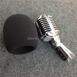Alta qualidade microfone bola forma espuma capa para microfone do vintage clássico microfone windscreen tamanho interno 60*98mm