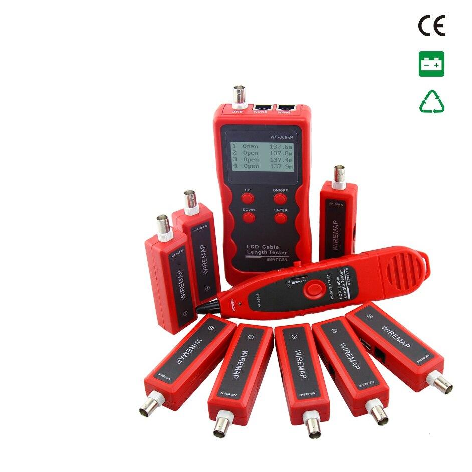 все цены на Free Shipping! NOYAFA NF-868W Cable Length Tester Tracker Phone LAN BNC Network Finder USB RJ11RJ45 WireTracer онлайн
