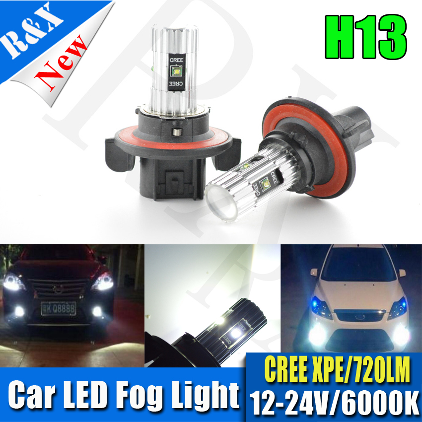 2pcs H13 XPE Led Chips High Power CANBUS 25W Car light Fog Lamps Auto car led bulbs Light Source parking 12V 24V 6000K White