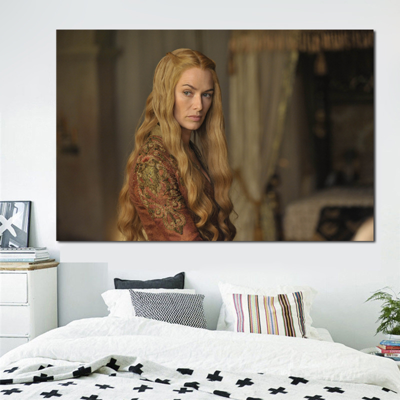 Lena Headey Game Of Thrones Canvas Painting Prints Living Room Artwork Home Decor Modern Wall Art Oil Painting Posters Pictures in Painting Calligraphy from Home Garden
