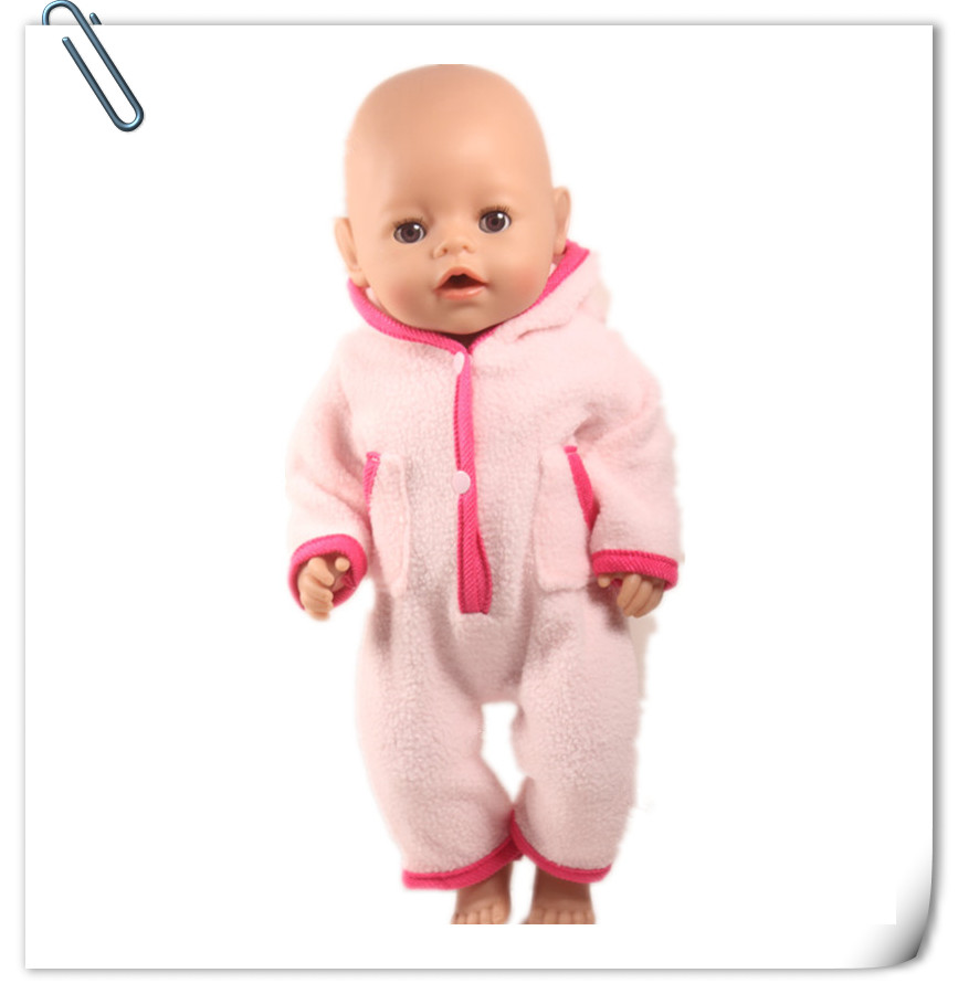 Doll Clothes Fit For 43cm Baby Born Zapf Doll Pink Rabbit Hat Jumpers Rompers 18inch 17inch Doll Accessories Best Birthday Gifts