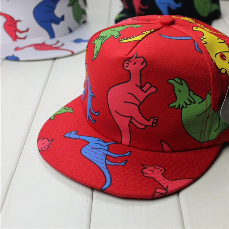 style brand summer cute baseball cap print dinosaur flat brim caps hat toddler jr