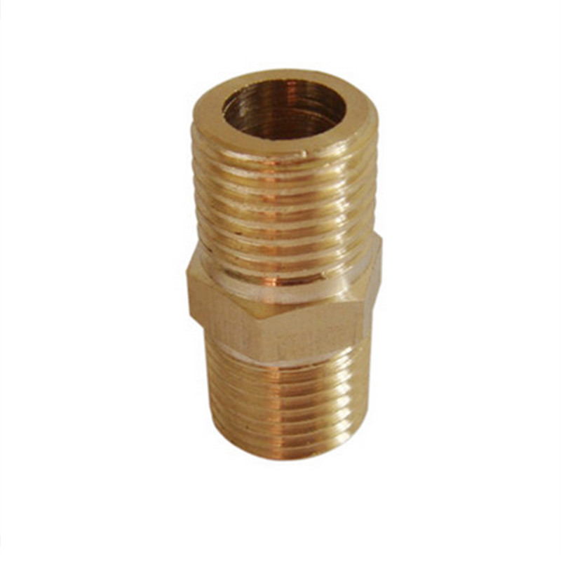 Quot male bspt brass nipple connector hose