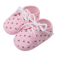 Baby Boy Girl Shoes First Walker Small Footprint Printing Lace Casual Shoes Non-Slip Breathable Baby Shoes Baby's First Walkers