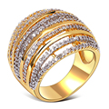 Nice Luxury women Ring gold plated with Cubic zircon designer Finger ring fashion jewelry Free shipment  size 6, 7, 8, 9,10