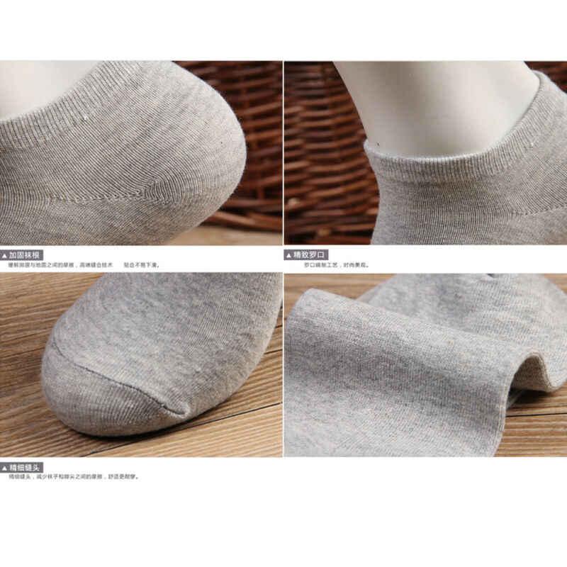 Vrouwen Mannen Katoenen Sokjes Voor mannen Business Casual Effen Kleur Korte Sokken Mannelijke Sok Slippers Meias