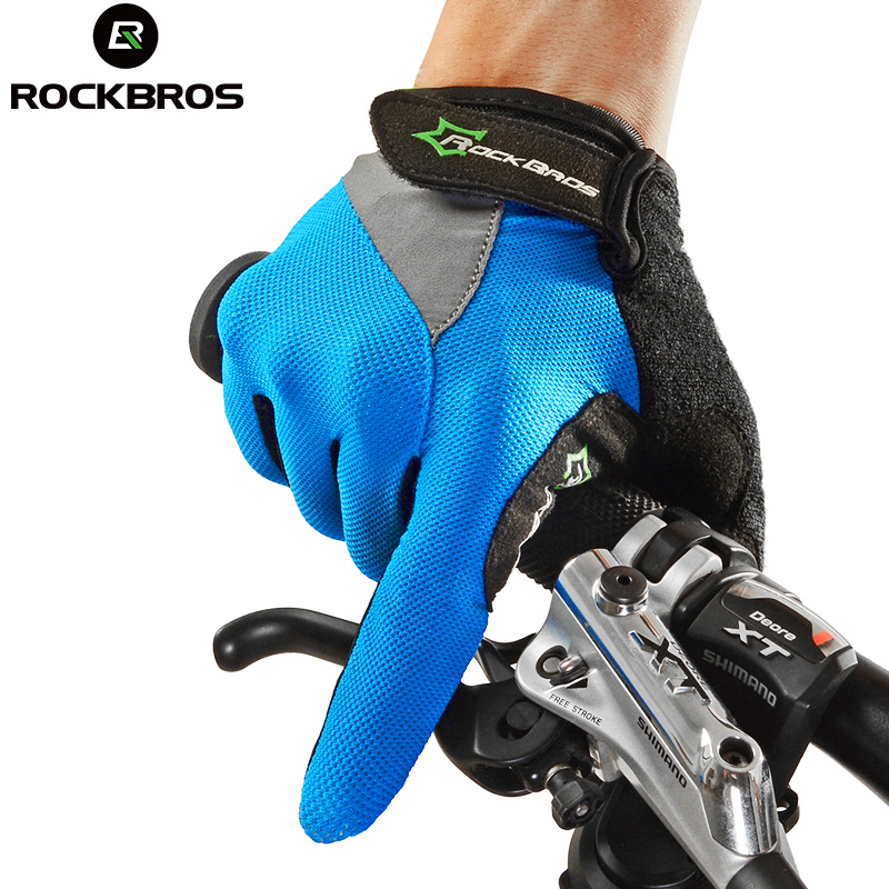 ROCKBROS Cycling <font><b>Gloves</b></font> Full Finger Gel Bike Bicycle Racing Motorcycle Windproof Phone Touch Sports <font><b>Gloves</b></font> Accessories K6202