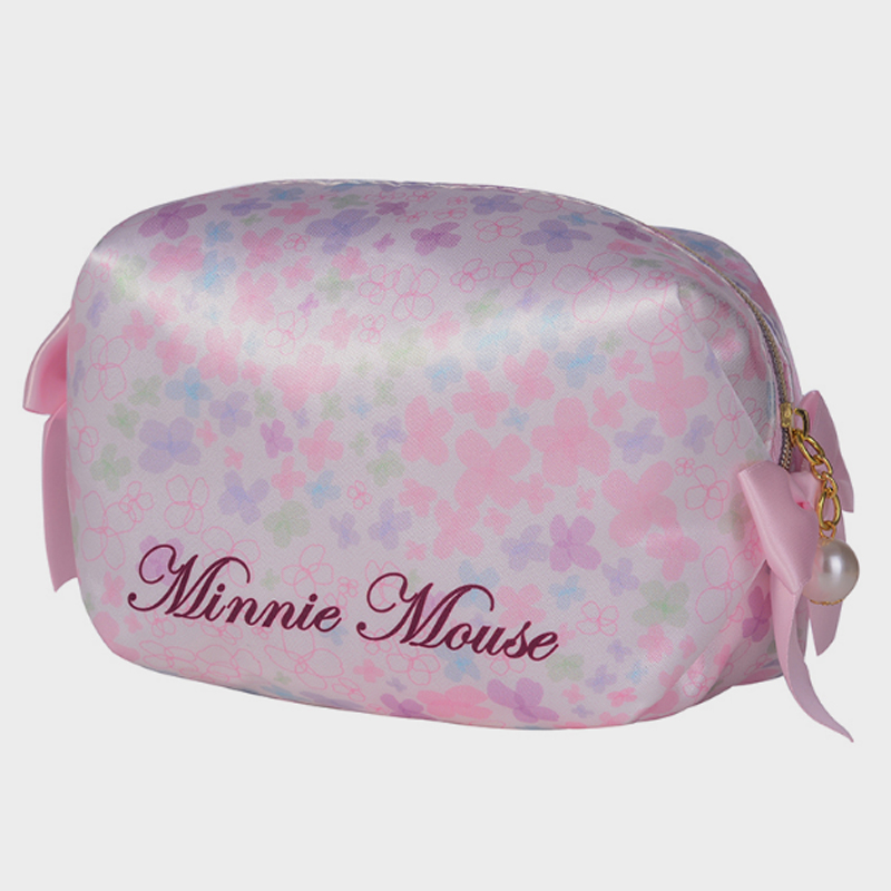 Disney New Cosmetic Organizer Bags Minnie Mouse Girl Women Travel Handbag Makeup Bag Wallet Zipper Clutches Storage Clutch Bag in Diaper Bags from Mother Kids