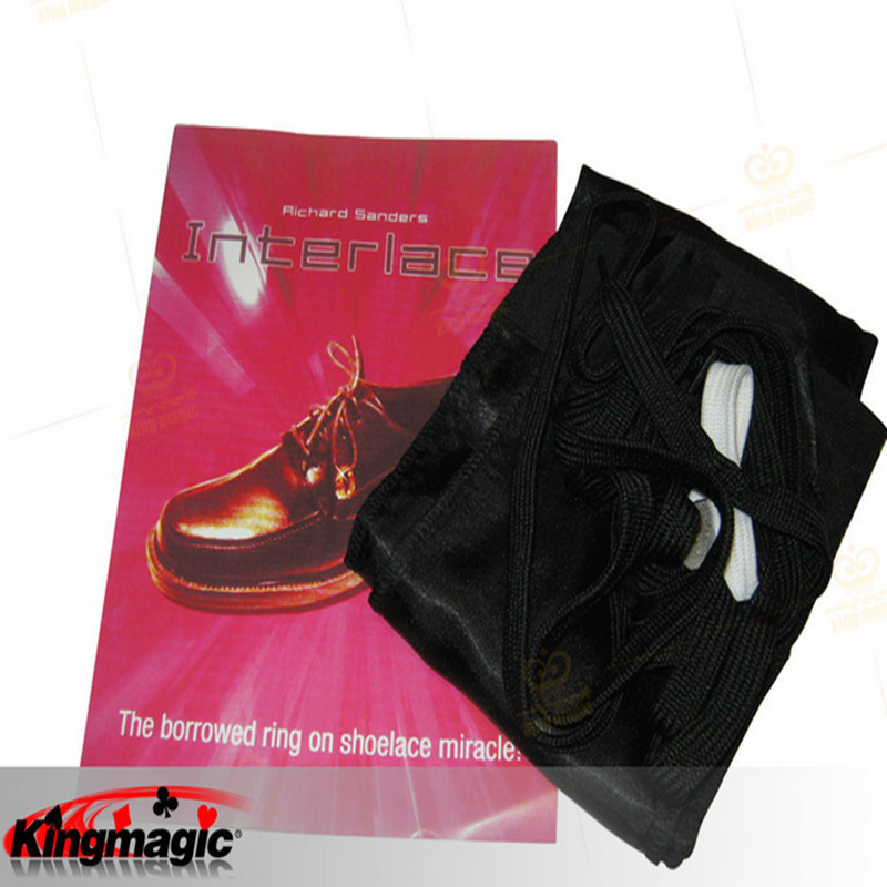Interlace by <font><b>Richard</b></font> <font><b>Sanders</b></font> Ring Into Shoes Magic Toys Props Close Up Magic Tricks Free Shipping image