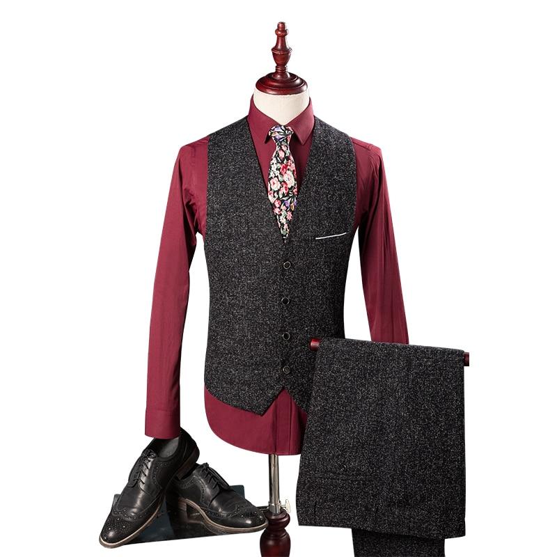 Slim Pantalon veste Qualité Porter Fit Mariage Affaires Gilet Noir Groom Costume Haute 2019 Hommes De Mode Costumes gUwzxUqf5
