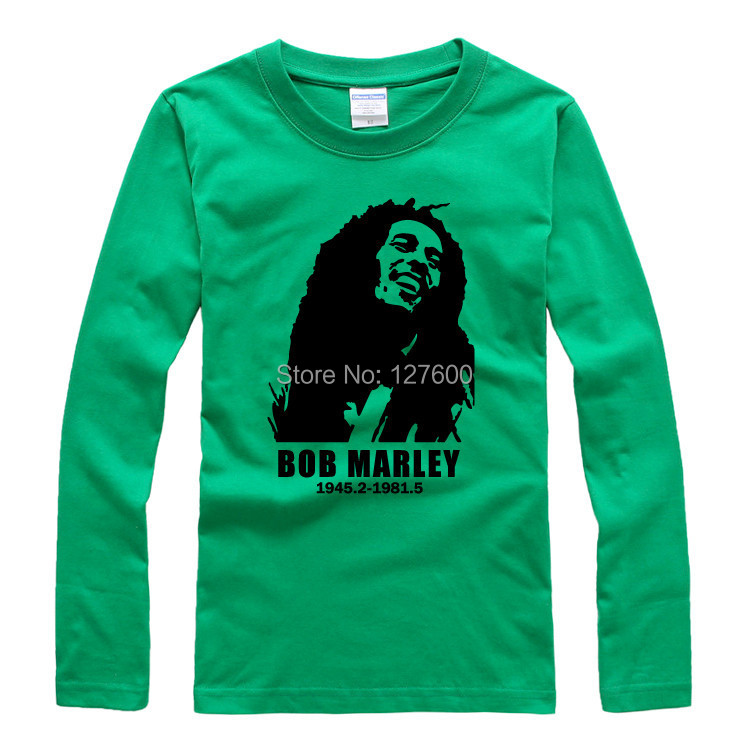 c2cfbc90dd7 Bob Marley Bob Marley shake off loose big yards trend Rock T shirt long  sleeve t shirt men and women-in T-Shirts from Men s Clothing on  Aliexpress.com ...
