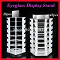 Free Shipping Holding 28pcs 42pcs Of Sunglasses Rotating Eyeglasses Sun Glasses Display Stand Holder With Mirror FX03