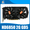 HD6850 2 ГБ Оригинальный графическая карта ATI Radeon HD6850 2 ГБ GDDR5 Game Card HDMI VGA DVI порт для рабочего стола.