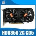 Hd6850 2 gb original placa gráfica ati radeon hd6850 2 gb gddr5 jogo hdmi vga dvi porto do cartão para o desktop.