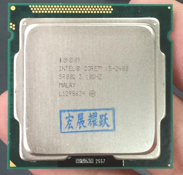 Processeur Intel Core i5-2400 i5 2400 (Cache 6 M, 3.1 GHz) ordinateur de bureau LGA1155 CPU Quad-Core