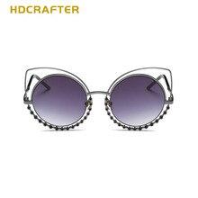 HDCRAFTER 2017  Brand  New  Comfortable  Ladies  Sunglasses  Cat  Eyes  Colorful   Bling Rhinestone  Eyeglasses  For  Women