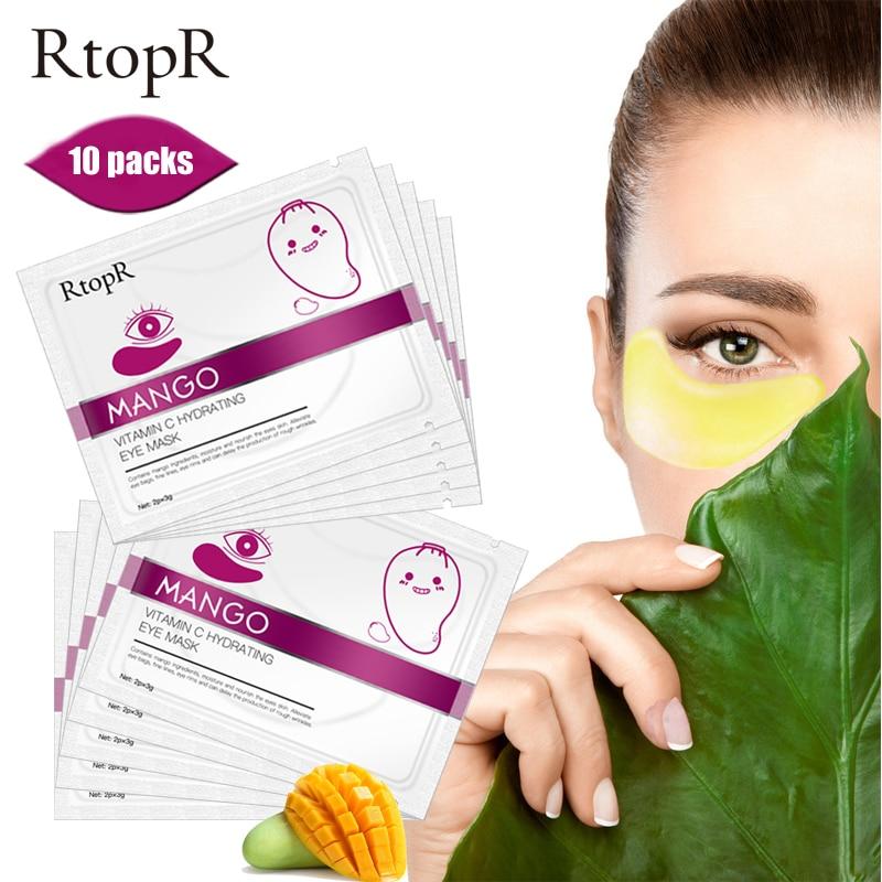 10 пар манго витамин с увлажнение век маска омолаживающий крем от морщин патчи для глаз устройство для удаления темных кругов уход за кожей лица лист маски Средства для ухода и маски      АлиЭкспресс