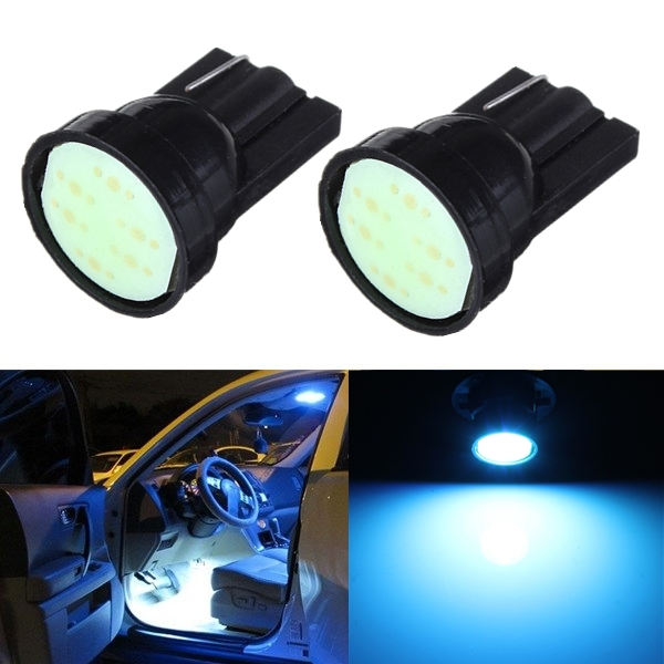 Best Price 2x T10 W5W 194 168 501 1 SMD LED COB Car Auto Side Wedge Light Lamp Bulb Ice Blue DC12V