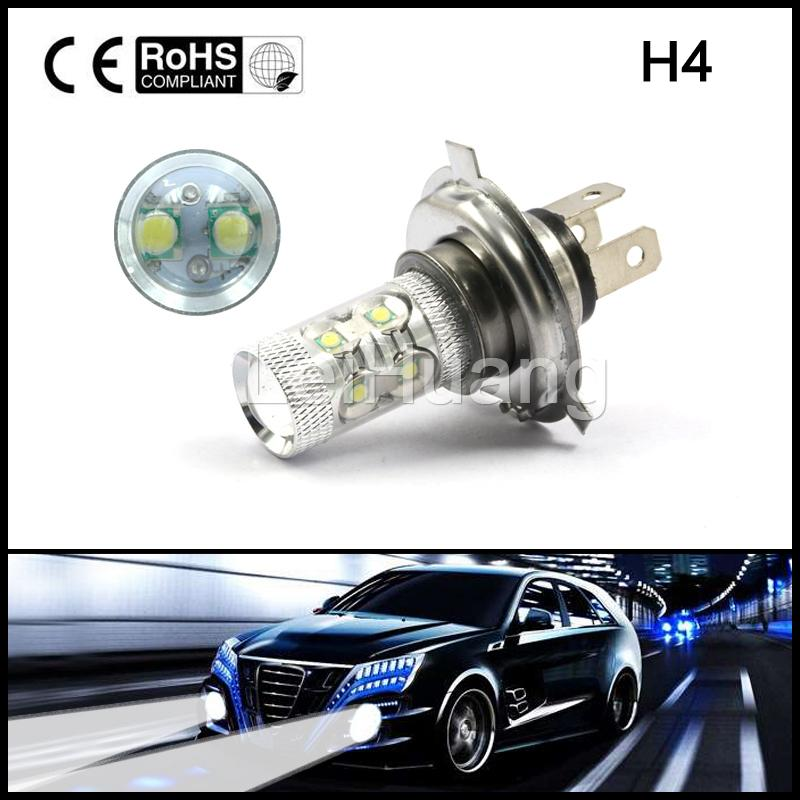 Car H4    LED Fog Light 50W 10leds SMD Auto Led Daytime Running Lights Fog Lamp 360 Degree DRL Bulbs DC12V~24V LEDS new arrival a pair 10w pure white 5630 3 smd led eagle eye lamp car back up daytime running fog light bulb 120lumen 18mm dc12v