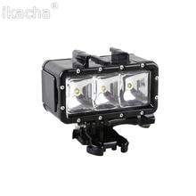 Новый GoPro 3 Батарея + LED Заполняющий Свет Подводный 30 м Дайвинг Вспышки свет Для Gopro Hero 5 4 3 + 3 Сессии Для XiaoMi Yi 4 К