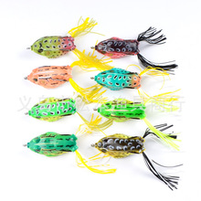 8pcs/lot Frog Bait Fishing lures Tackle Lifelike Soft Rubber Ray frog 60mm 13.5g Top-water Enticement Silicone Lure Carp Wobbler цена