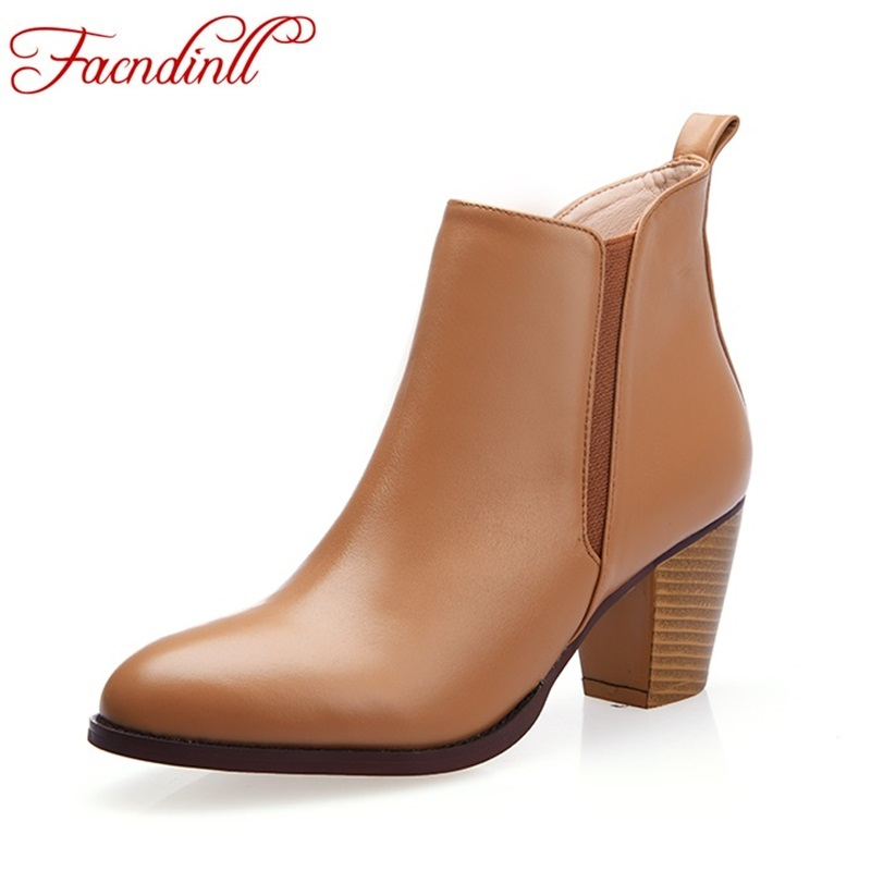 plus size 43 new fashion autumn spring leather women ankle boots round toe thick high heel zipper black designer shoes casual feidu классический steampunk goggles sunglasses men women retro reflective steam punk round sun glasses unisex oculos de sol feminino