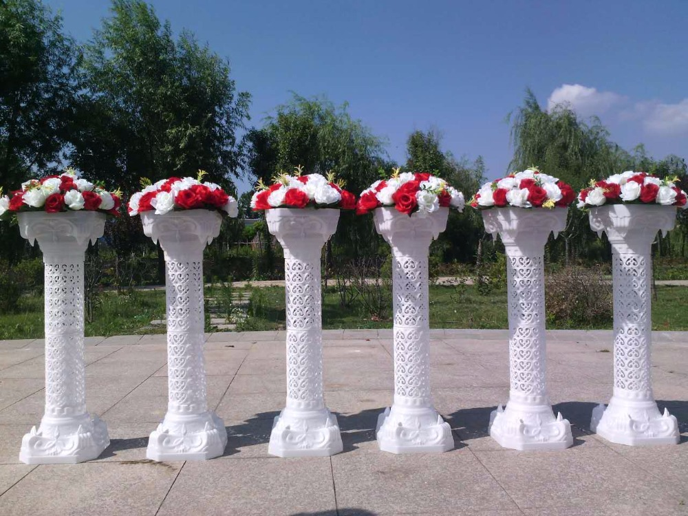 Wedding Plastic Column Roman Pillars Walkway Flower Stands 6pcs Lot Column Decor Lots And Lots Of Fire Truckslot For Sale Qc Aliexpress