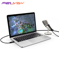 Games condenser microphone SF 700 Microphone 3.5mm/USB interface for mobile phones Laptop microphone