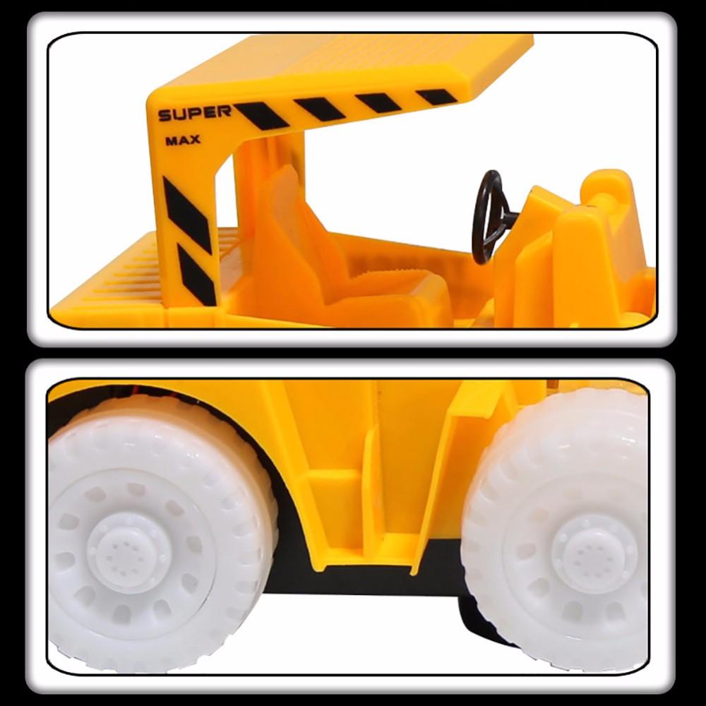 Omni Arah Mainan Mainan Truk Excavator Bulldozer Dengan Berkedip