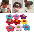 Fashion Princess Flower Hair Paste Magic Hairpins Hair Accessories For Baby Girls Dress Party Supplies