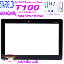 New Original 10.1 for ASUS Transformer Book T100 T100TA JA-DA5490NB Touch Screen Panel Digitizer Sensor with Yellow Flex Cable new 238x180 238 180mm cable 75mm 4wire touch screen