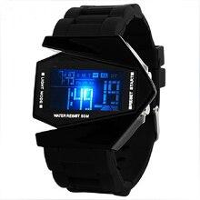2017 Новое Прибытие Нерегулярные Круто Reloj Led Цифровые Электронные Наручные Часы Мода Самолет Дизайнерские Часы Reloj Pulsera