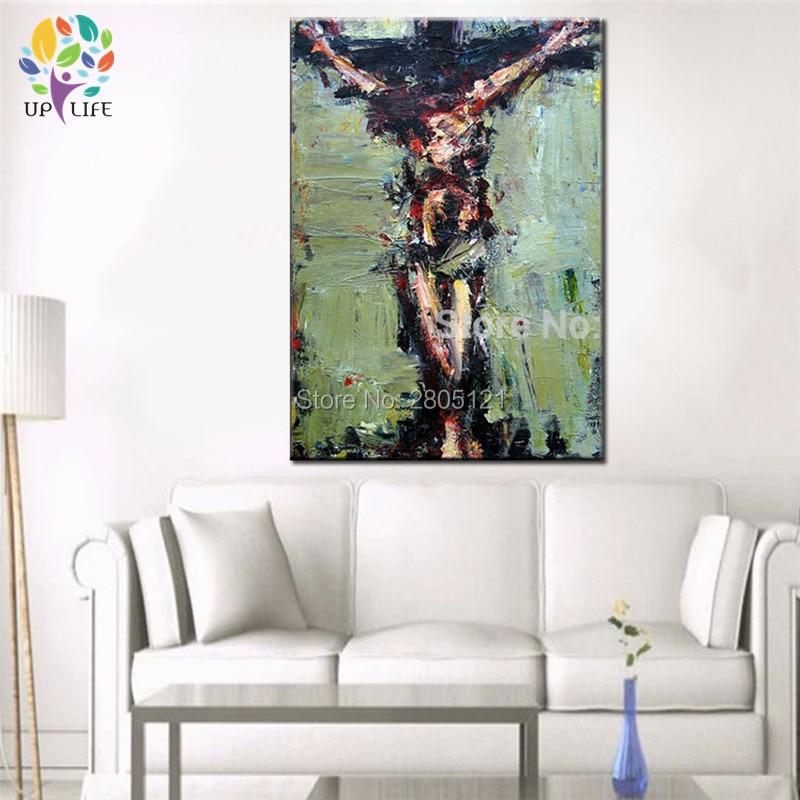 tangan dicat dinding lukisan Krismas lukisan minyak Jesus Hari Paskah - Hiasan rumah - Foto 5