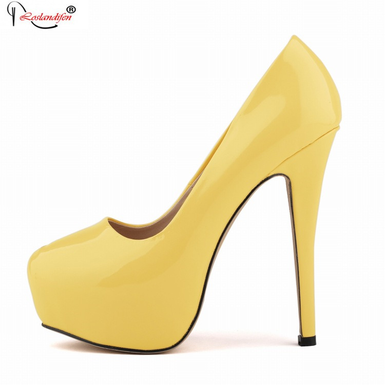 blue yellow office lady platform women shoes high heels ladies red wedding pumps 2017 new brand shoes big size smynlk 0013h