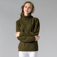 Women Sweaters Pullovers Turtleneck Long Sleeve Sweater Dress 2017 Summer Knitting Women's White Warm Sweater Clothes