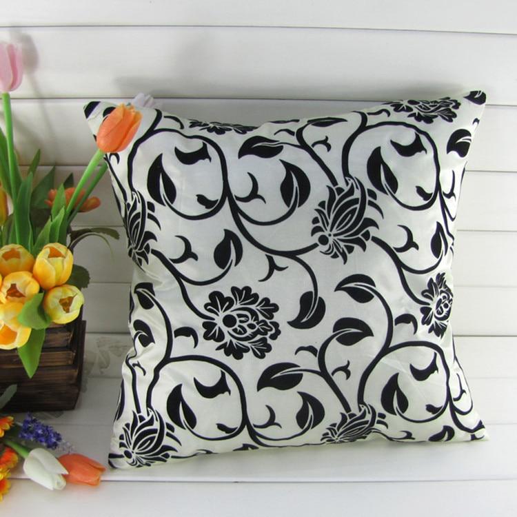 China manmade silk flowr pillow cover 45*45cm pile coating sofa cushion cover  women room decor bar chair cushion cover