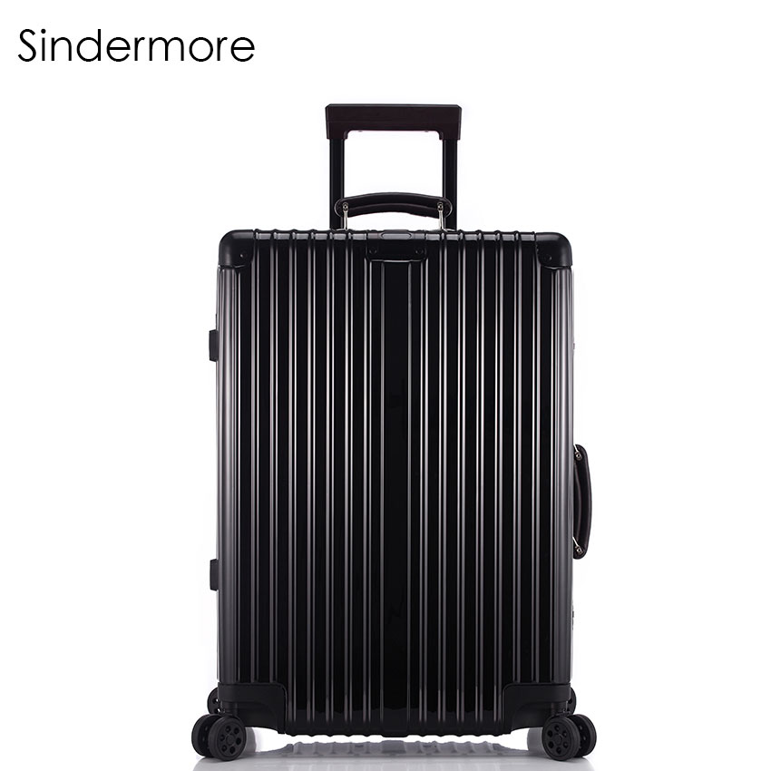 Sindermore Carry On Vintage Rolling Hardside Luggage Suitcase With Wheels Travel Suitcase 20242628 Custom laser engraving