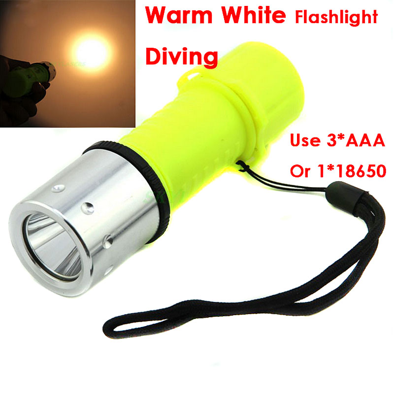 New T6 LED Torch Lantern Lighting Light Underwater Diving Flashlight Torch Waterproof Portable Lamp For Hunting Camping VEM95T50