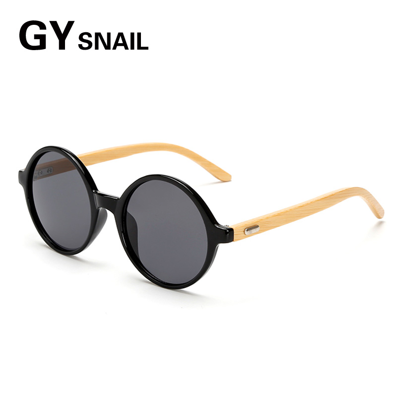 7aabe05c0be GYsnail 2018 Round Retro Steampunk Bamboo Wooden Sunglasses Men Women  Vintage wood Sun Glasses Designer Men s Male Lentes UV400