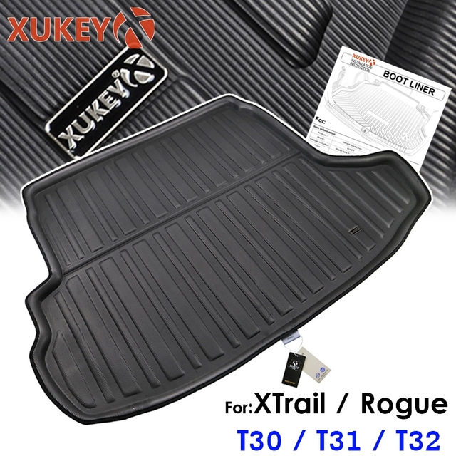 Car Boot Cargo Liner For Nissan X-Trail Rogue XTrail T30 T31 T32 2001 - 2018 Rear Trunk Floor Mat Tray Carpet Mud Protector