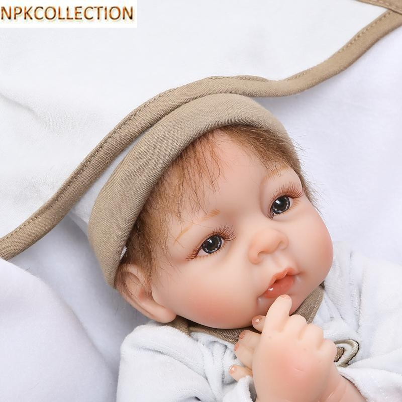 NPKCOLLECTION 14 Inch Realistic Silicone Dolls Babies Handmade Silicone Reborn Dolls for Girls New Year's Toy Baby Born Doll 18 inch dolls handmade bjd doll reborn babies toys for girls 45cm jointed plastic toy dolls for wedding valentine s day gifts